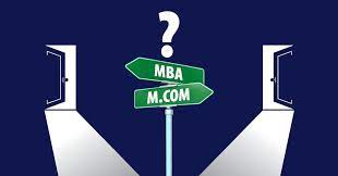 Difference between M.Com and MBA.